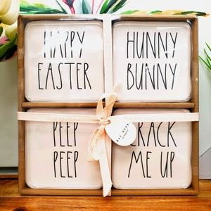 Rae Dunn Easter Coaster Set